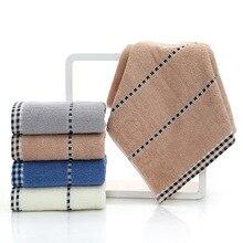 Quality Classic Plaid Cotton Jacquard Towel Morning Wash Washcloth Gym Yoga Exercise Bathroom Toallas Gift