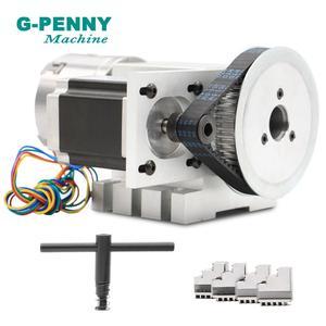 Image 2 - SALE! 80mm 4 Hàm CNC 4th Trục CNC chia đầu/Xoay 6:1 Trục/MỘT trục Bộ Mini CNC Router/chạm khắc gỗ khắc chữ