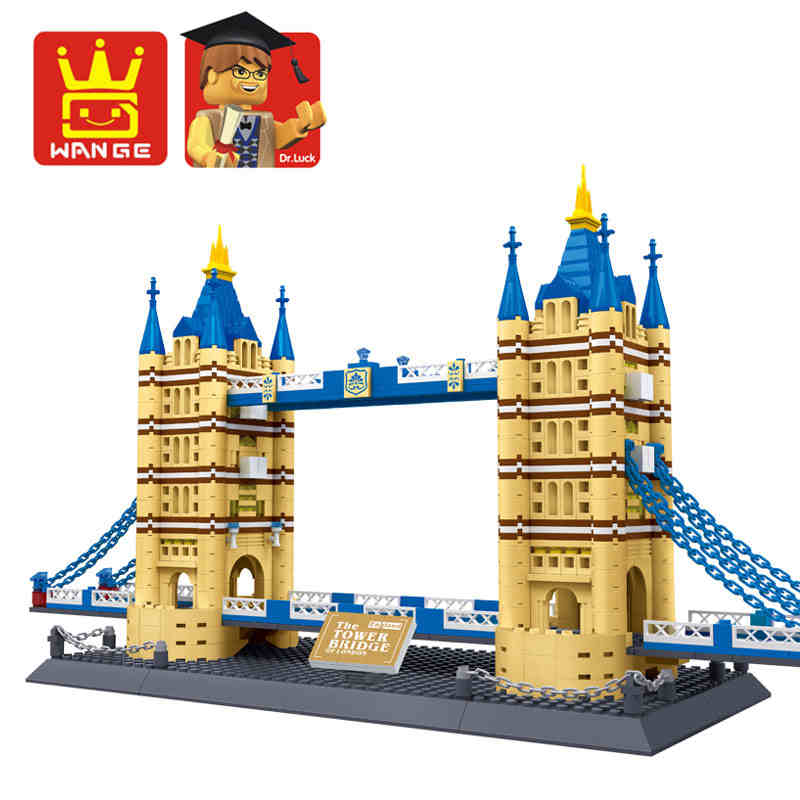 1033pcs set Famous Architecture Series The London Tower Bridge 3D Model Building Blocks Educational font b