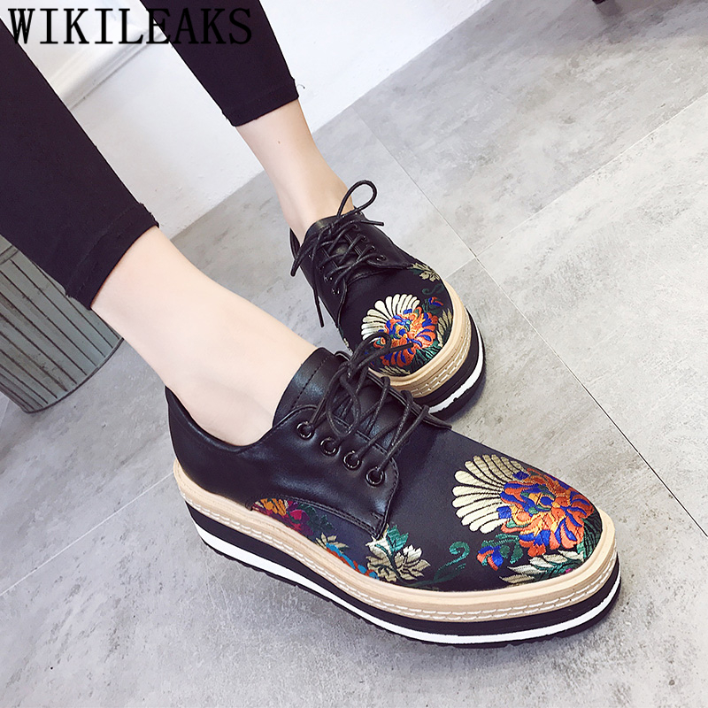 high quality embroidered flowers platform shoes women luxury brand flats zapatillas mujer casual ladies shoes sapato feminino women shoes 2017 summer shoes casual shoes women zapatillas mujer casual sapato feminino