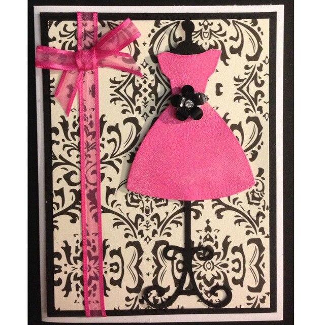 Pochoir robe de princesse en métal 4 pièces | Matrices de découpe, pochoir pour bricolage, carte Album Photo, nouvelle découpe artisanale décorative