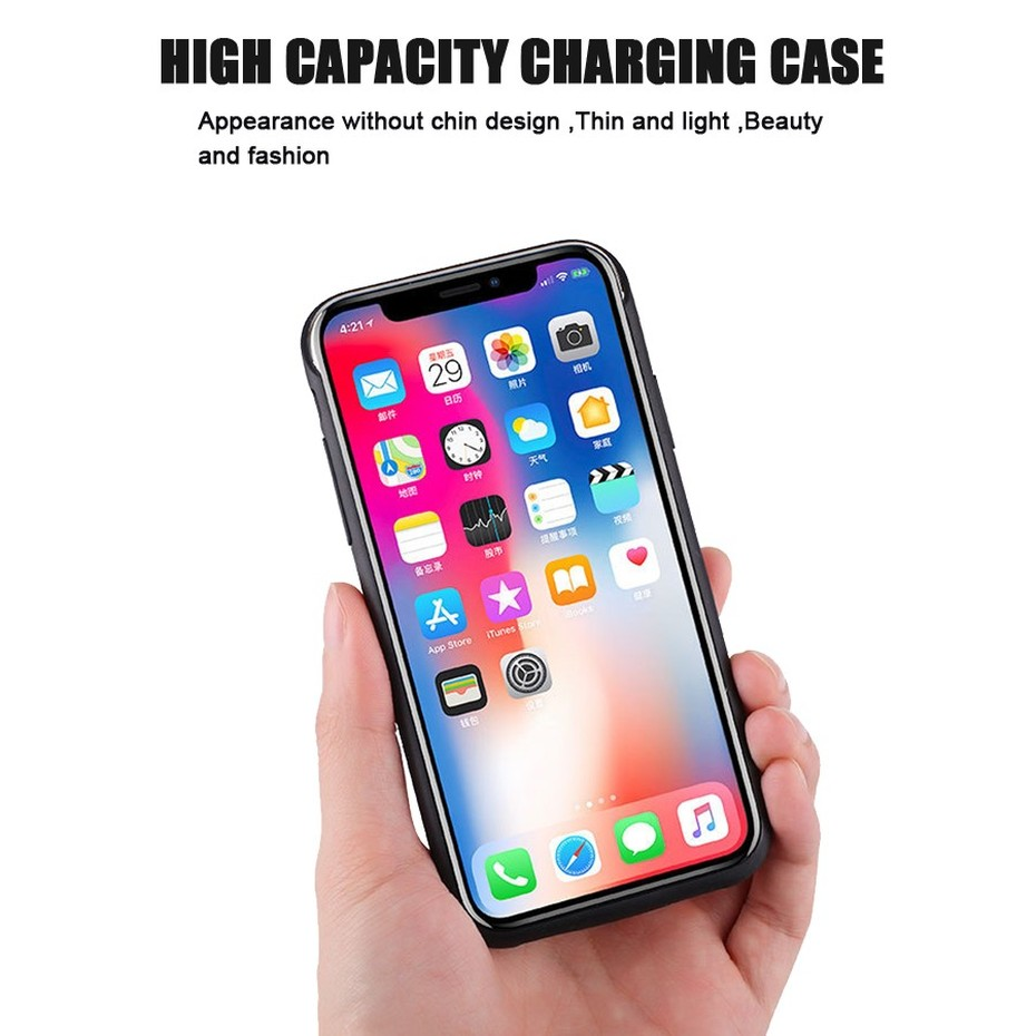 KHP Battery Charger Case For iPhone 6 6s 7 8 Plus 3500mAh4000mAh5000mAh Powerbank Case For iPhone X XR Xs Battery Charger Case (2)