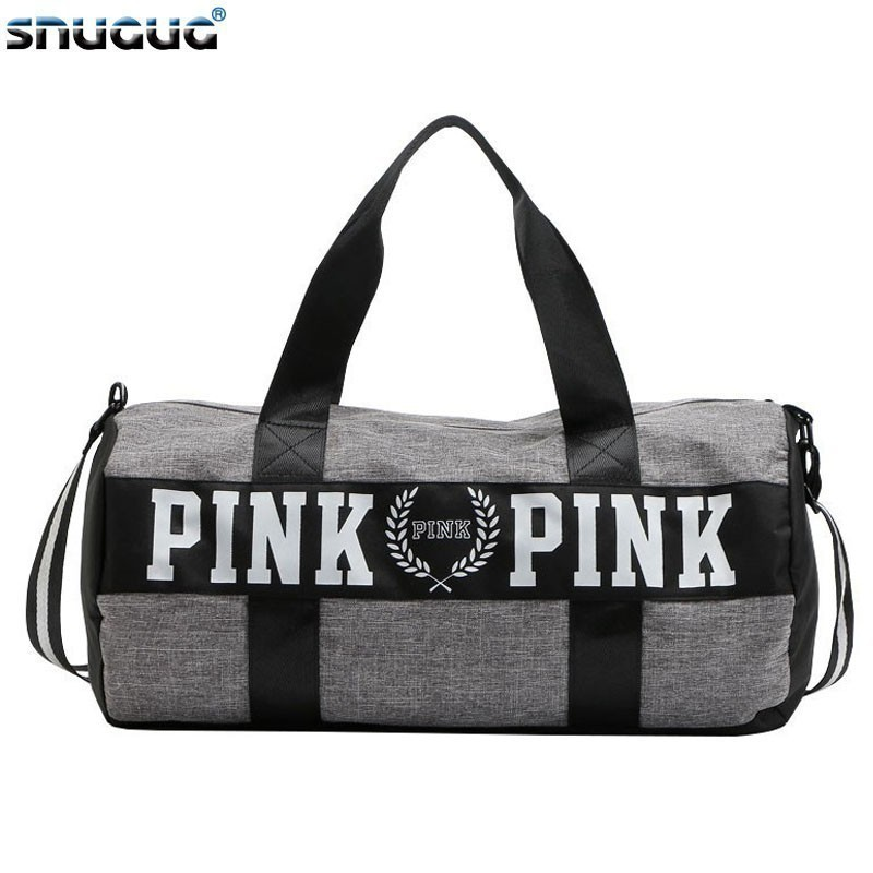 SNUGUG Waterproof Woman Sport Bag For Fitness Outdoor Pink Gym Bag Men Nylon Clothing Fitness Bag Girls Training Travel Handbags