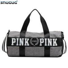 SNUGUG Waterproof Woman Sport Bag For Fitness Outdoor Pink Gym Men Nylon Clothing Girls Training Travel Handbags