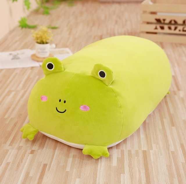 30-90cm macio animal dos desenhos animados travesseiro almofada bonito gato do cão gordo totoro pinguim porco sapo brinquedo de pelúcia enchido adorável crianças presente do dia de nascimento
