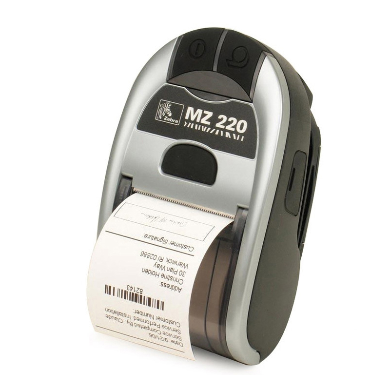 Original For Zebra MZ220 Wireless Bluetooth Mobile Thermal Printer For 50mm Ticket Or Label Portable Printer 203 dpi seebz 2set original printer for zebra mz220 wireless bluetooth mobile thermal printer for 50mm ticket or label portable printer