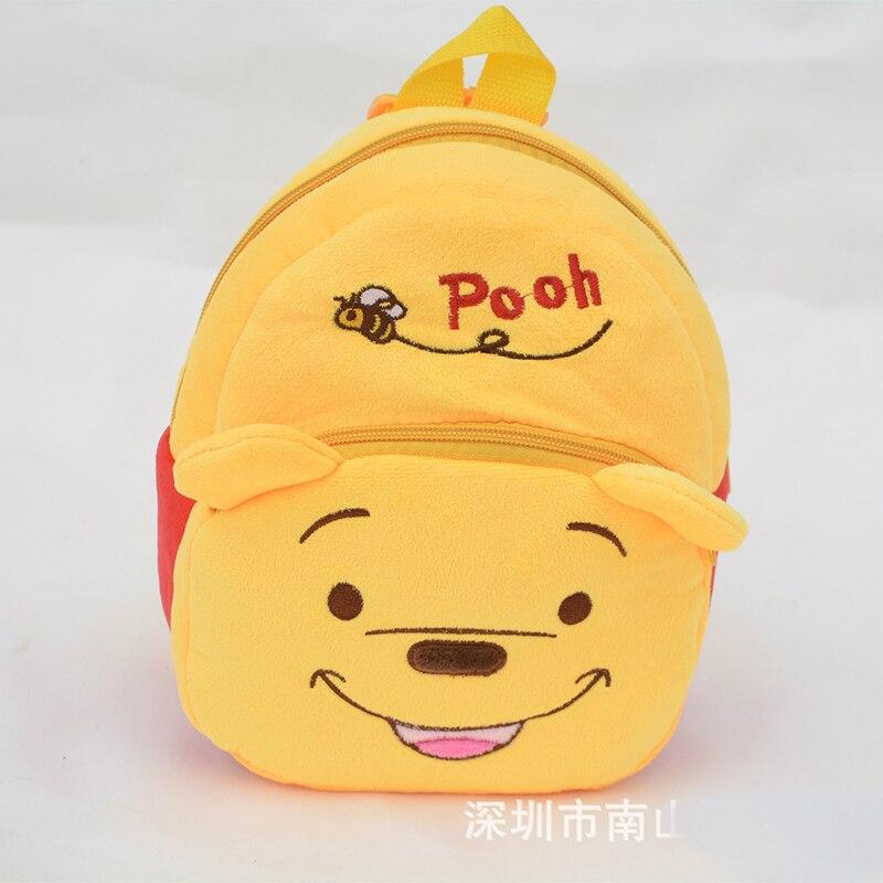 The Children Pooh  plush Cartoon Toy Backpacks Girl and  Boy Character School Bag Gift For Kids  Infantil backpacks