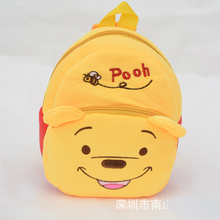 The Children Pooh plush Cartoon Toy Backpacks Girl and Boy Character School Bag Gift For Kids