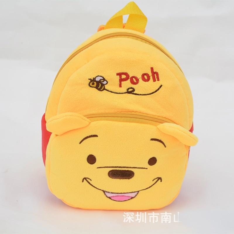 The Children Pooh plush Cartoon Toy font b Backpacks b font Girl and Boy Character School
