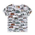 2-8 Years Summer Boys T-shirts 2016 Fashion New Brand Printed Car 100% Cotton T-shirt For Boys Children Shirts Kids Tops Clothes