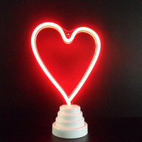 Romantic Heart Neon Night Light Love Letter Marquee Sign Neon Light USB Battery Led Neon Table