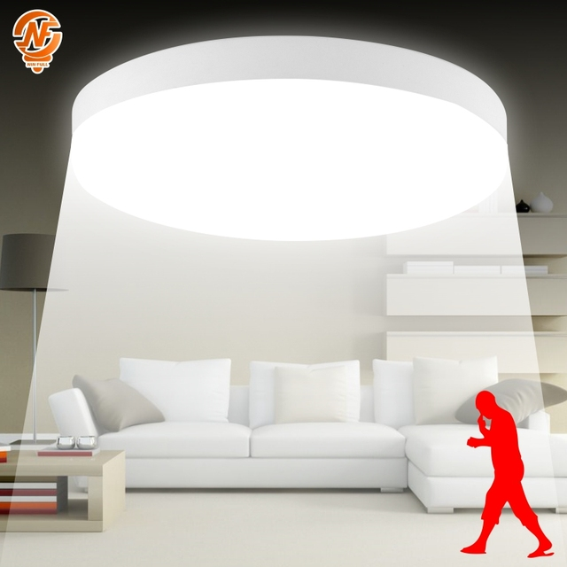 PIR Motion Sensor LED Ceiling Light 8w 18w Sounds Control Ceiling Lamp 85-265V Surface Mount Lighting Fixture For Home Lighting