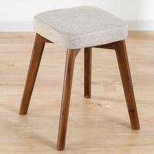 Обеденный табурет Северный стул устойчивый деревянный стул Досуг стул ресторан стул современный минималистский дом стул