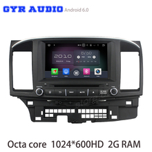 Octa core android 6.0 Coche dvd GPS para Mitsubishi lancer con 1024*600 de la pantalla WIFI 4G usb bluetooth de radio auto espejo enlace