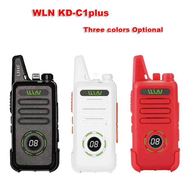 New WLN KD C1plus mini Walkie Upgraded Radio KDC1plus UHF 400 470MHz slim transceiver better than KD C1 two way radios