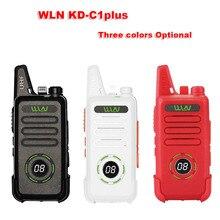 Yeni WLN KD C1plus mini telsiz yükseltilmiş radyo KDC1plus UHF 400 470MHz ince telsiz daha iyi daha KD C1 iki yönlü telsiz