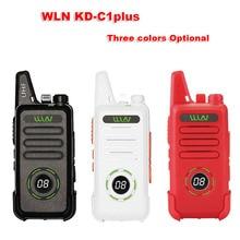 새로운 wln KD C1plus 미니 무전기 업그레이드 된 라디오 kdc1plus uhf 400 470 mhz 슬림 트랜시버 KD C1 양방향 라디오보다 낫다.