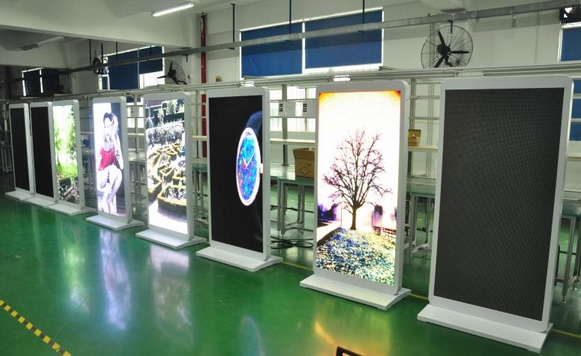 Commercial Outdoor Bus/Subway Station P3 Full Color 55 Inch LED Advertising Totem Display Pc