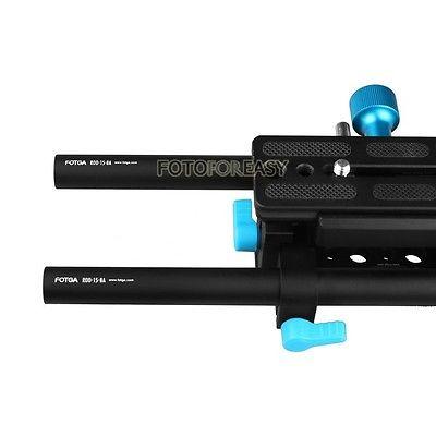 Tige de Rail FOTGA DP3000 15mm support de plaque de base QR avancé pour DSLR suivre la plate-forme de mise au point - 3