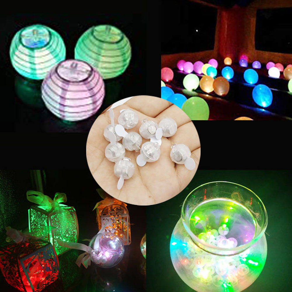 50 Pieces/lot Round Led Flash Ball Lamp Balloon Light For Paper Lantern Ballon Latex Balloons Lights Wedding Party Decoration