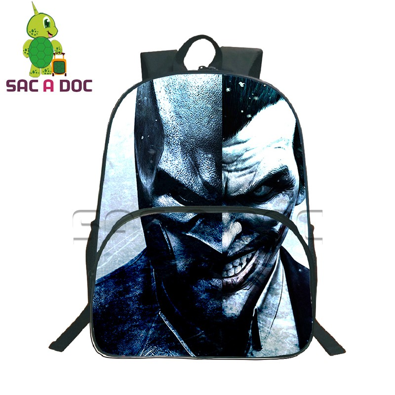 fee501b53122 The Dark Knight Joker Backpack School Backpack Daily Backpack Laptop  Backpack Teens Boys The Dark Knight Joker School Bags-in Backpacks from  Luggage   Bags ...