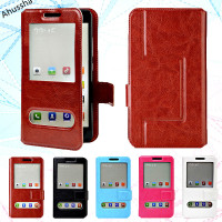 Fashion View Window Flip PU Leather Case Back Cover For Archos 50 Diamond Case Holster Cover 5