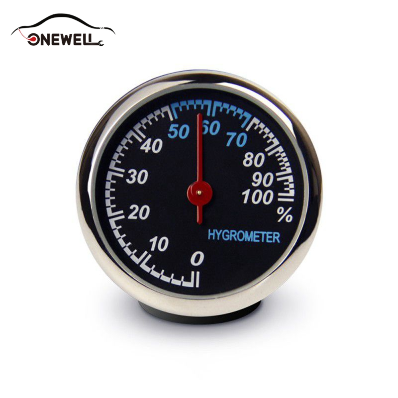ONEWELL Mini Car Automobile Digital Clock Auto Watch Automotive Thermometer Hygrometer Decoration Ornament In Car Car-Styling