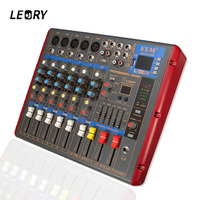 LEORY High Quality Professional Sound Mixer 6 Channels With Bluetooth USB DSP DJ Audio Digital Mixing Console For Audio Karaoke