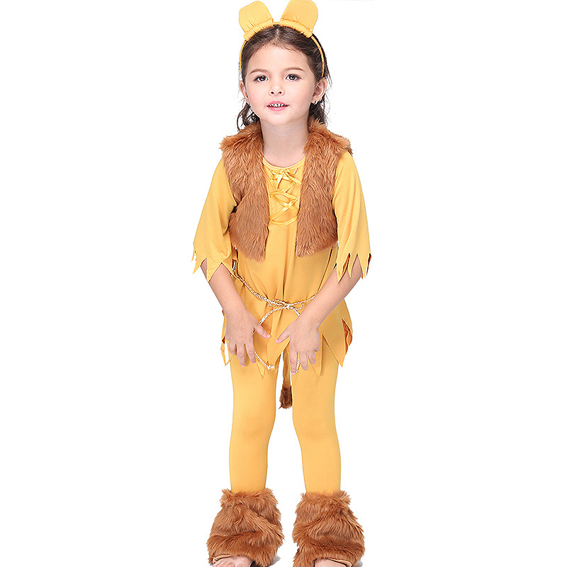 New Baby Girl Clothing Set Milk Silk Lion King Animal Cosplay Clothing Set Costume Party Cartoon Stage Play Clothes