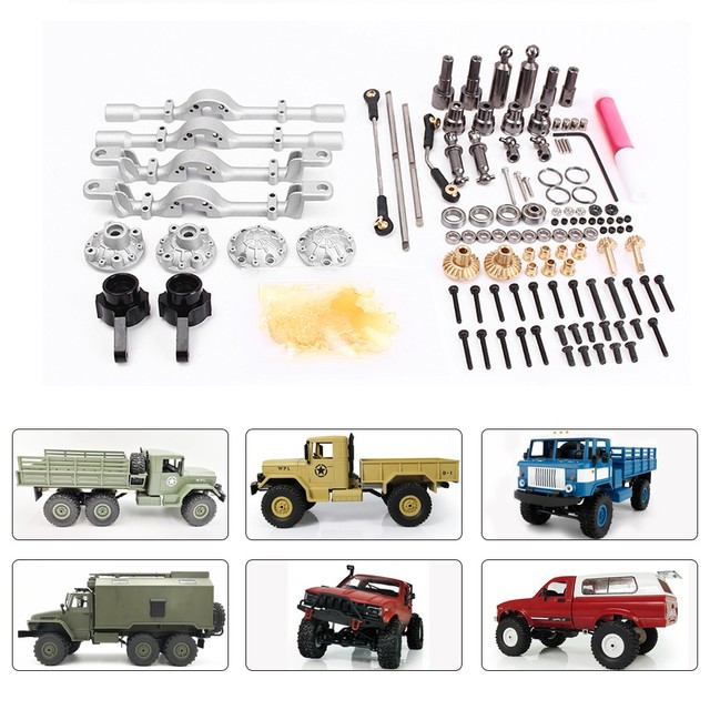 1 Set Front Rear Metal Bridge Axle for WPL B 1 B16 B24 B36 C14 C24 1/16  DIY Upgrade Accessories Model 4WD 6WD Rc Car Parts