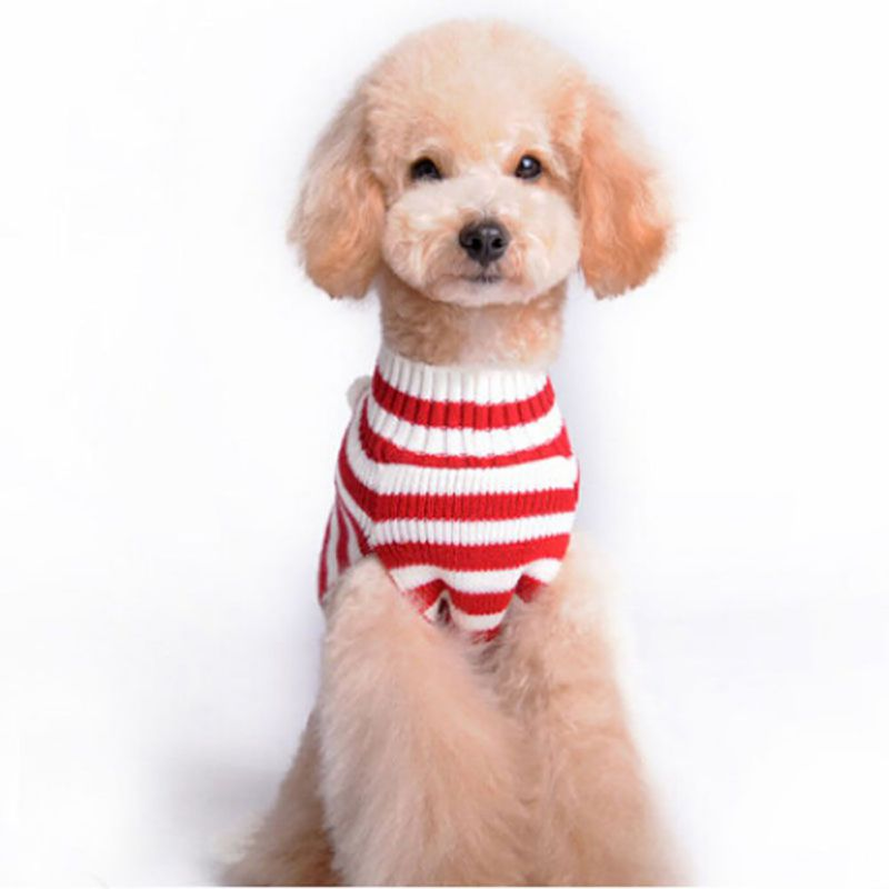Striped Dog Clothes Christmas Sweater Clothes For Dogs Puppy Christmas Clothes Newest Design