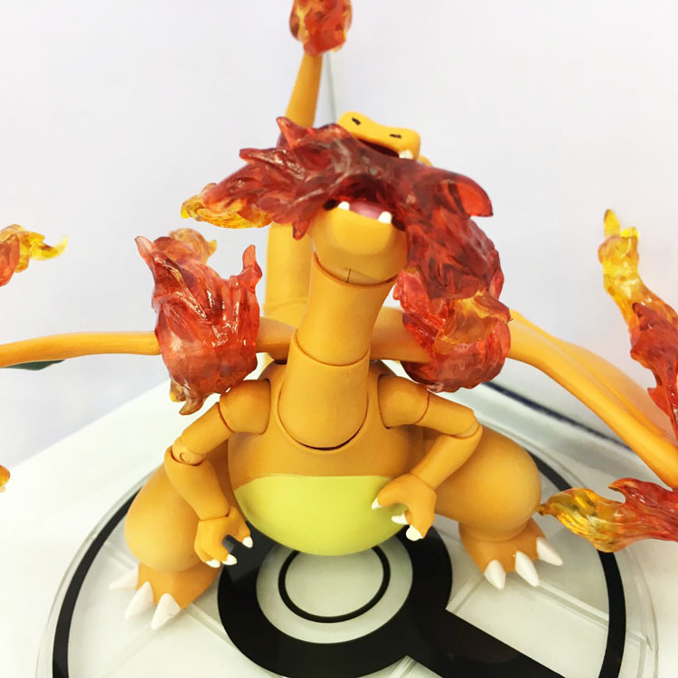 NEW hot 10cm Pikachu go Charizard movable collectors action figure toys Christmas gift doll no box new hot 17cm avengers ant man black panther movable action figure toys doll collection christmas gift with box