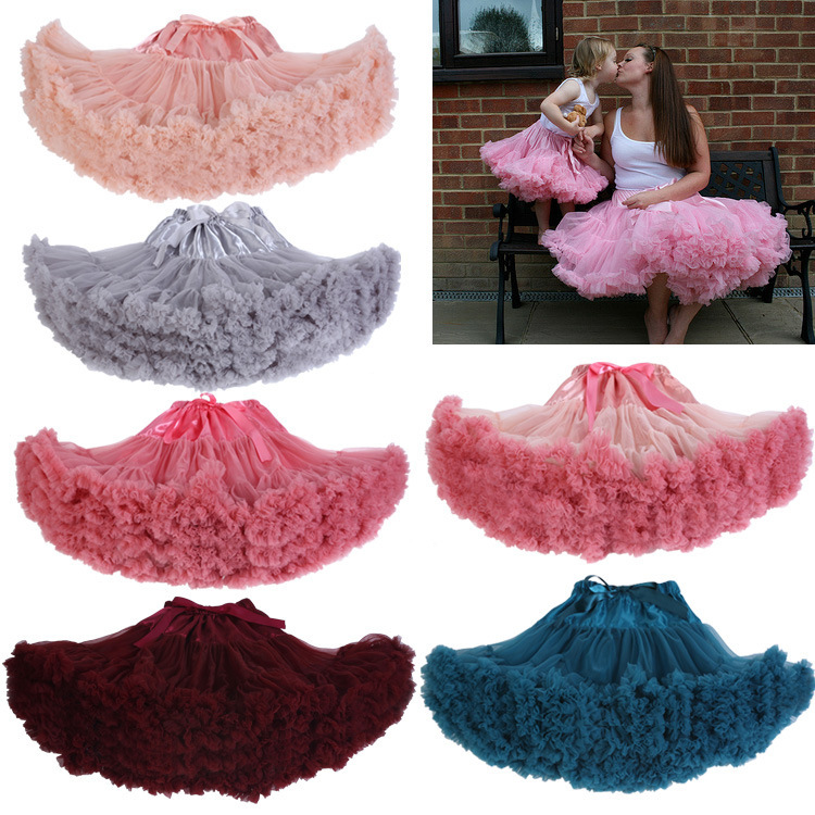 2018 Fashion Princess Fairy Skirts Women Bustle Women Tutu Skirts Adult Female Faldas Candy Color Party Skirts Gifts
