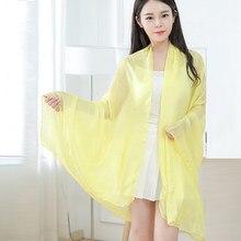 893848318b8b 2018 Silk Long Scarf Luxury Brand Women New Design Beach Blanket Shawl Wear  Swimwear Bandana Hijab