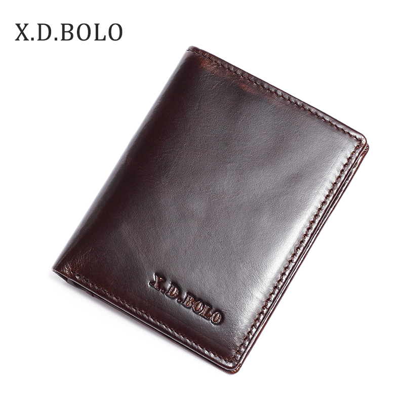XDBOLO Small wallet men multifunction purse men wallets with coin pocket zipper men leather wallet male famous brand money bag недорго, оригинальная цена