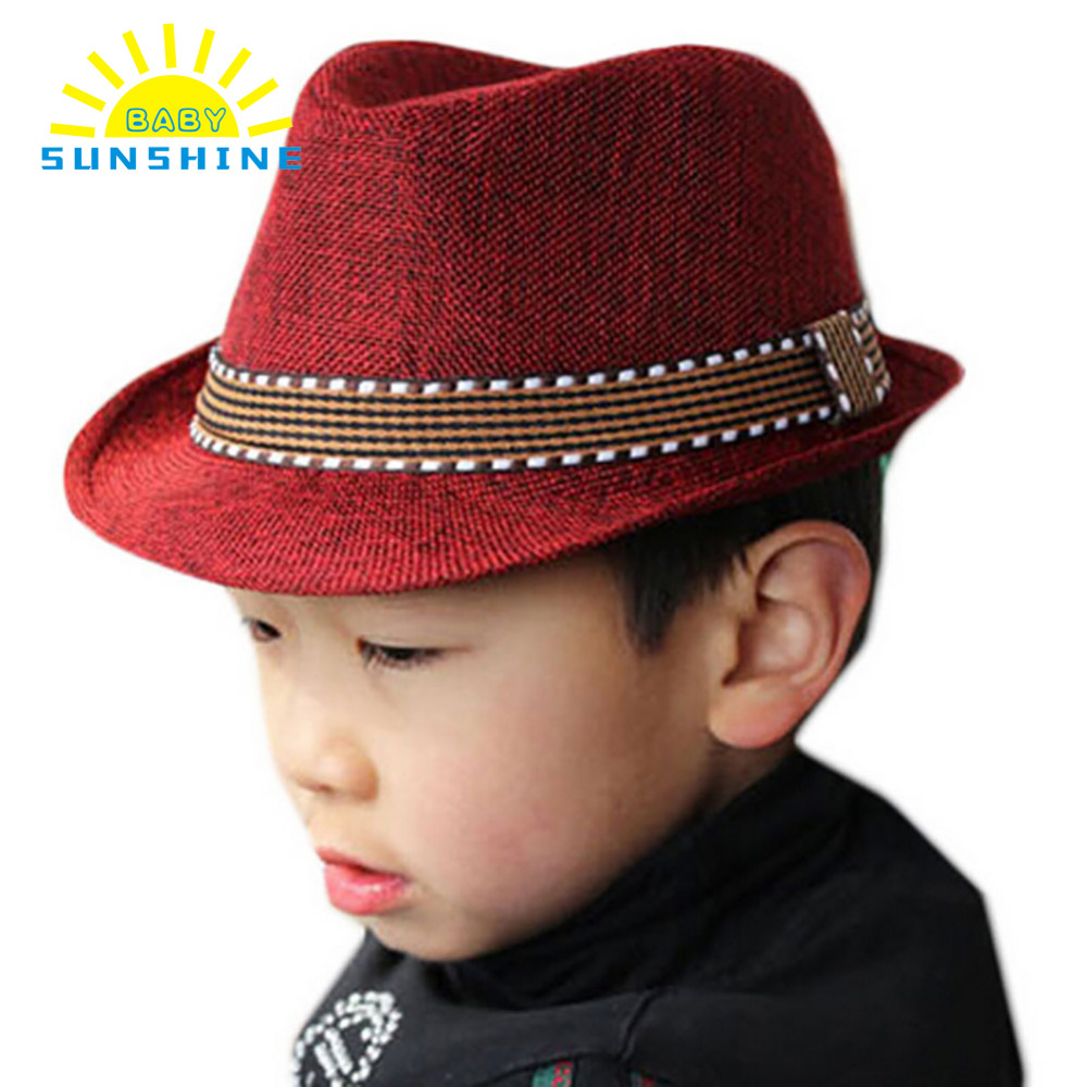 71ff3b00df358 2017 Fashion Jazz Toddler Kids Baby Boy Girl Cap Cool Photography Fedora  Hat Top Vintage Summer Kids Sun Hat 5 Color-in Hats   Caps from Mother    Kids on ...