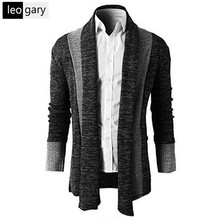 2016 New Arrival Spring Explosion Models Supply Men Stitching Long Sweater Coat Patchwork Casual High Quality Men's Cardigan
