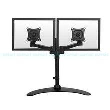 13-24 Dual Screen Monitor Holder Desktop Stand Full Rotation TV Mount Arm Bracket ML1002