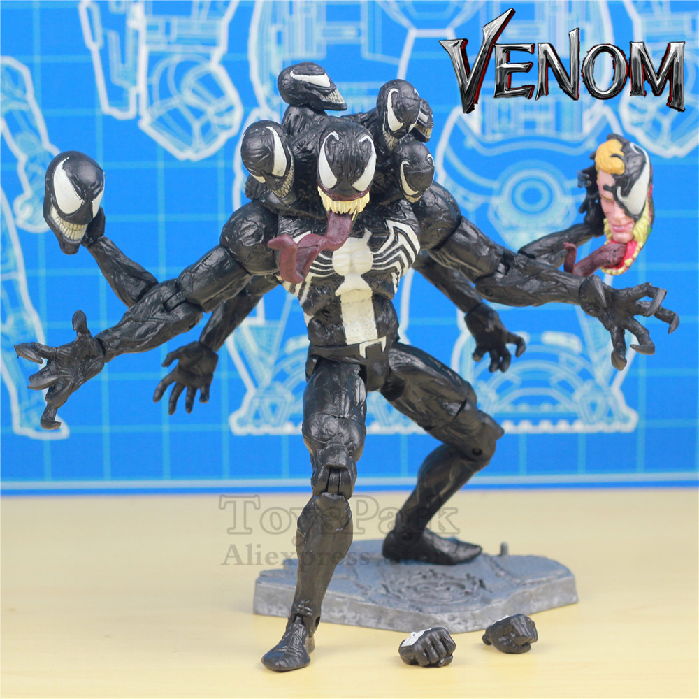 Marvel Venom 8 Action Figure Deluxe Edition Spiderman Villian 2018 Tom Hardy Movie KO's MS Marvel Select Legends Doll Toy Mode ms marvel vol 4