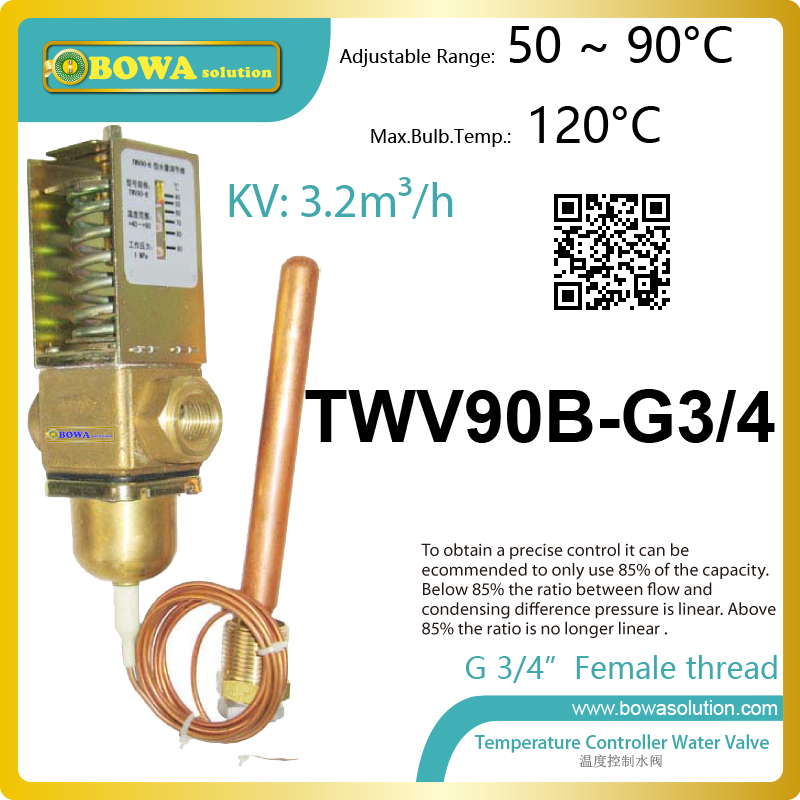 Thermo. operated water valves can be used in Food processing equipments,  Biomass boilers and Hydraulic systems thermo operated water valves are used for proportional regulation of flow quantity depending on the setting and the sensor
