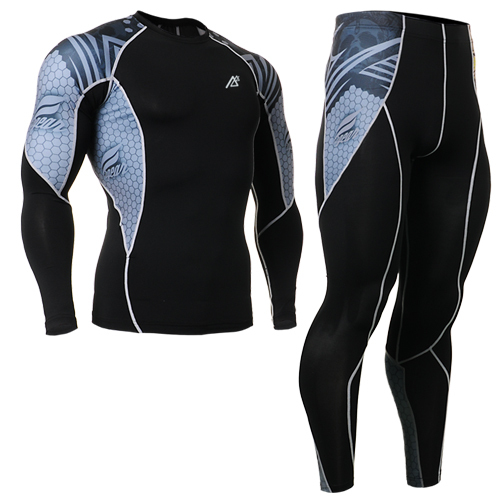british style mens track suit for cylcing biking mens clothes fitness shirt brand men+shiny leggings fitness clothes men