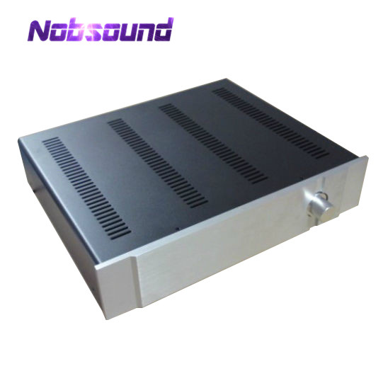 Nobsound Aluminum Panel Iron Body Chassis Case Enclosure DIY Cabinet Preamplifier Box DIYNobsound Aluminum Panel Iron Body Chassis Case Enclosure DIY Cabinet Preamplifier Box DIY