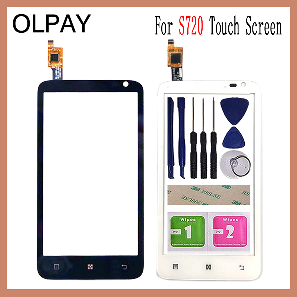 OLPAY 4.5 Inch For Lenovo S720 S 720 Touch Screen Glass Digitizer Panel Touch Screen Front Glass Lens Sensor Tools