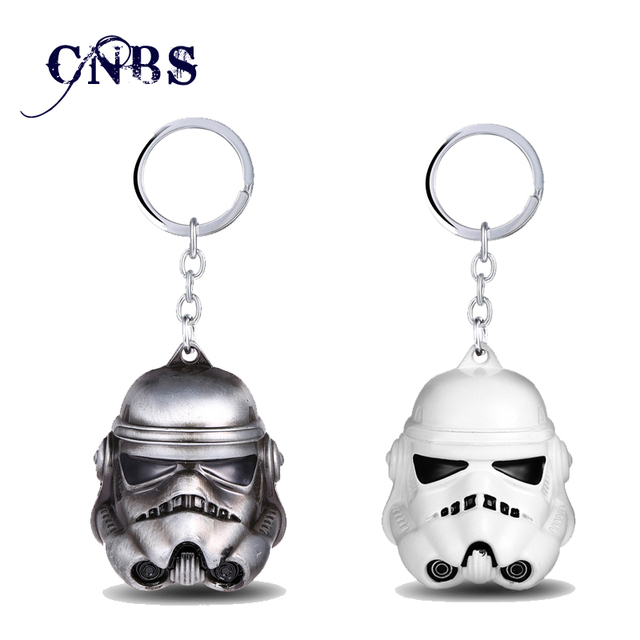 Star Wars 3d Stormtrooper Keychain Can Drop Shipping Metal Key Rings