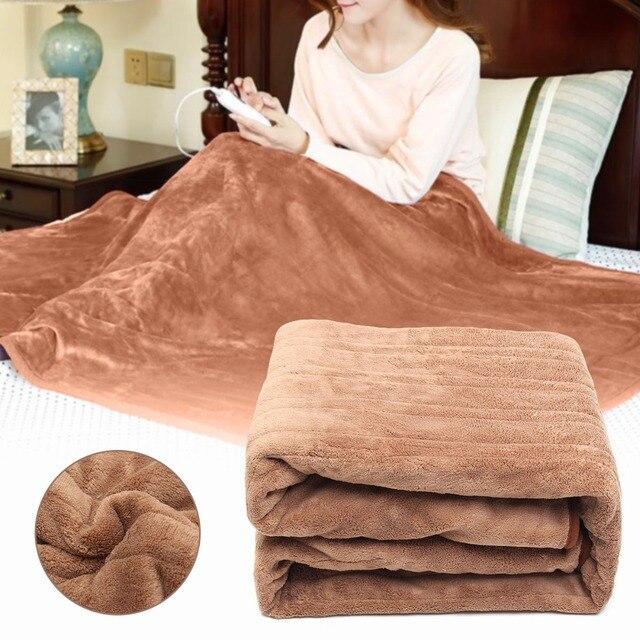 Tapis électrique pour couverture électrique, tapis chauffant automatique, imperméable, 4 vitesses, minuterie, 220V