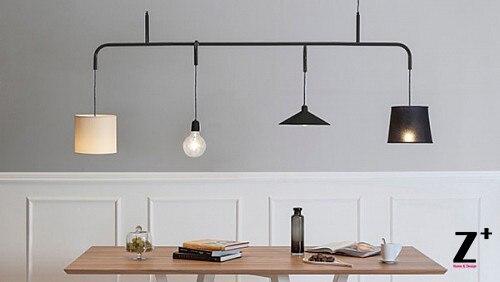 Amerikaanse stijl moderne hanglamp vier hoofden bollen edison lamp