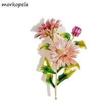 Morkopela цветок ромашки эмалированные булавки женские булавки и Броши Модные броши Букет одежда ювелирные изделия подарок для женщин