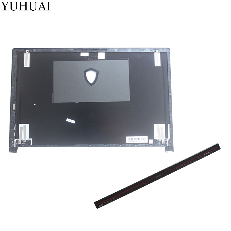 Nouveau LCD housse supérieure Pour MSI GS63 GS63VR LCD COUVERTURE ARRIÈRE 3076K3A22HG01 noir/charnières couverture