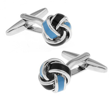 Free shipping Black Cufflinks for men fashion knot design top quality copper hotsale 2