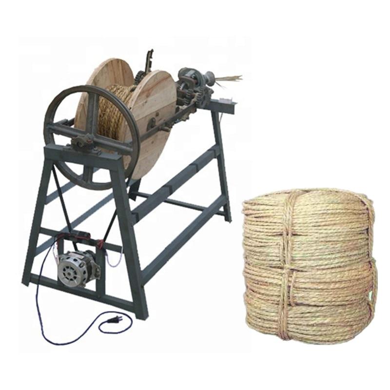 Semi automatic rice stalk straw rope making machine straw braiding machine price